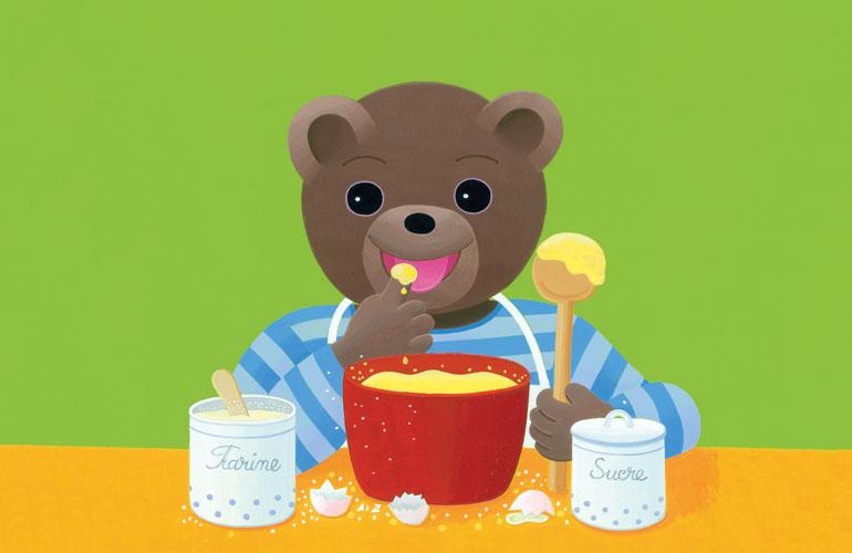 Petit Ours Brun fait la cuisine dans Pomme d'Api