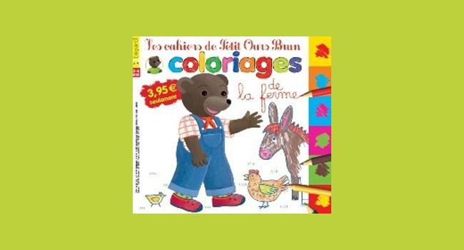 Les cahiers de Petit Ours Brun, les coloriages de la ferme