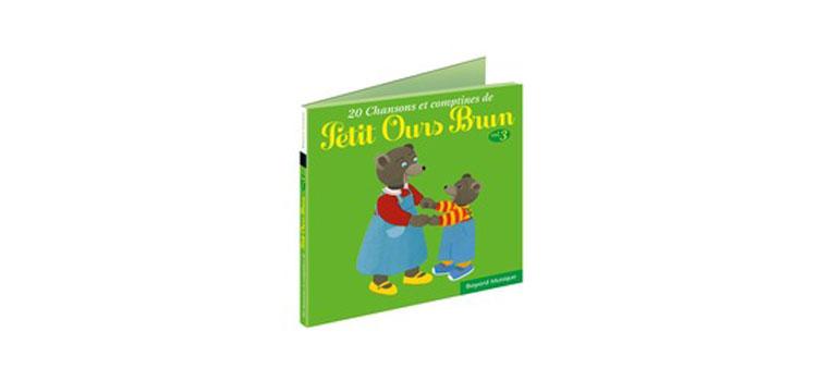 Le CD '20 chansons et comptines de Petit Ours Brun', volume 3