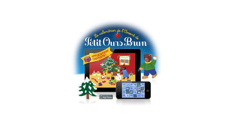 L'appli gratuite 'Le calendrier de l'Avent de Petit Ours Brun'