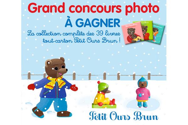 Grand concours photo Petit Ours Brun et la neige