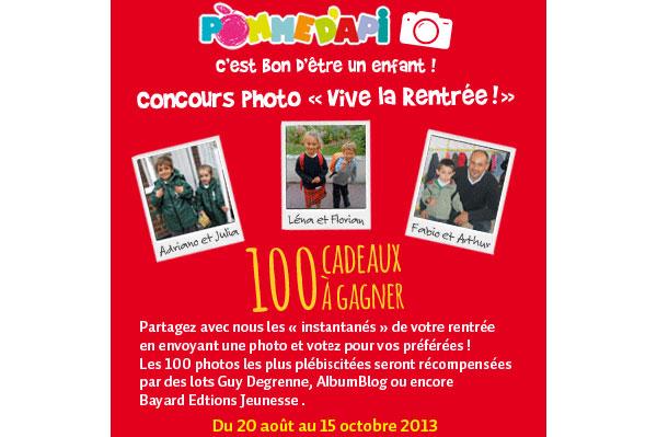 Concours photo Petit Ours Brun Vive la rentrée