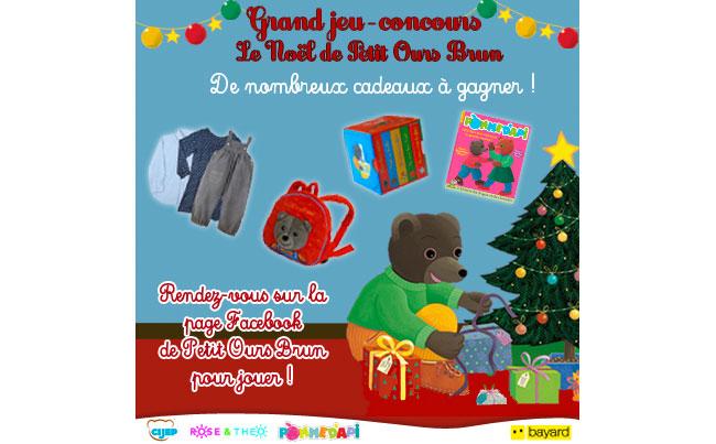 Grand jeu-concours Le Noël de Petit Ours Brun