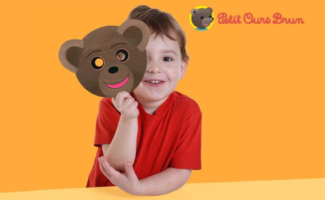 Un bricolage facile à faire à la maison : le masque de Petit Ours Brun