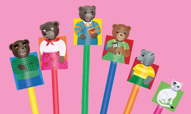 Bricolage : Les marionnettes Petit Ours Brun