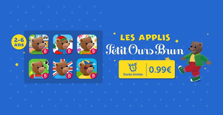 Mini-prix sur toutes les applications Petit Ours Brun !