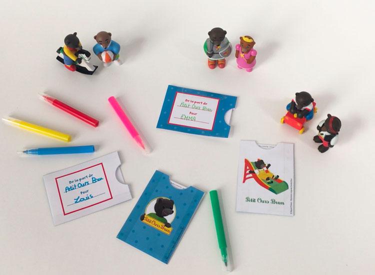 Bricolage : Tes cartons d'invitation Petit Ours Brun
