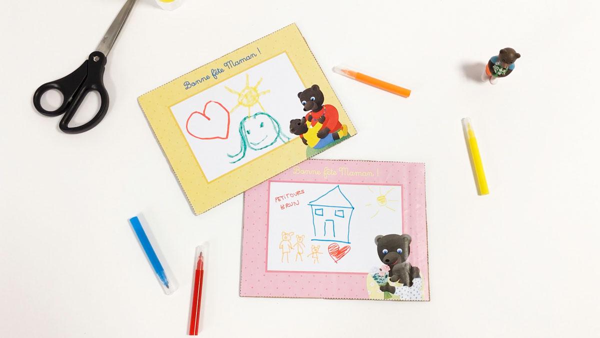 bricolage le cadre petit ours brun pour la f te des. Black Bedroom Furniture Sets. Home Design Ideas