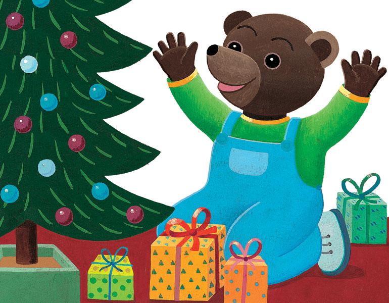 Petit Ours Brun et ses cadeaux de Noël