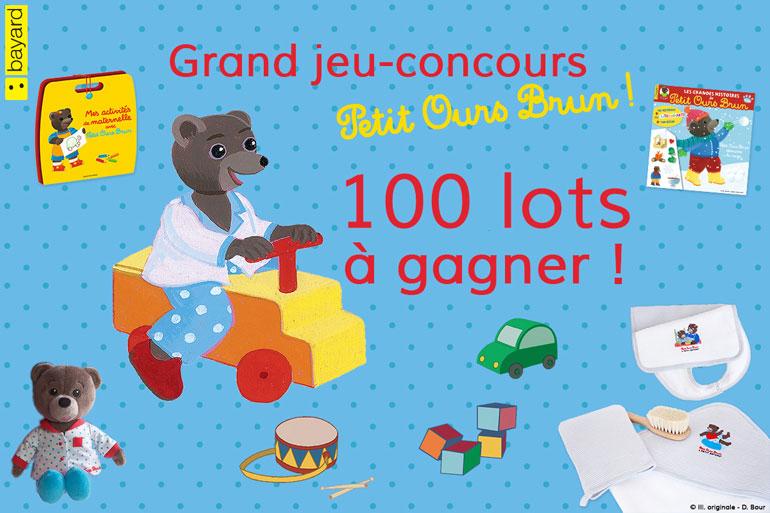 Résultats du grand-jeu concours Petit Ours Brun 2017