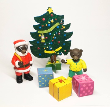 Joyeux Noel Petit Ours Brun.Popi