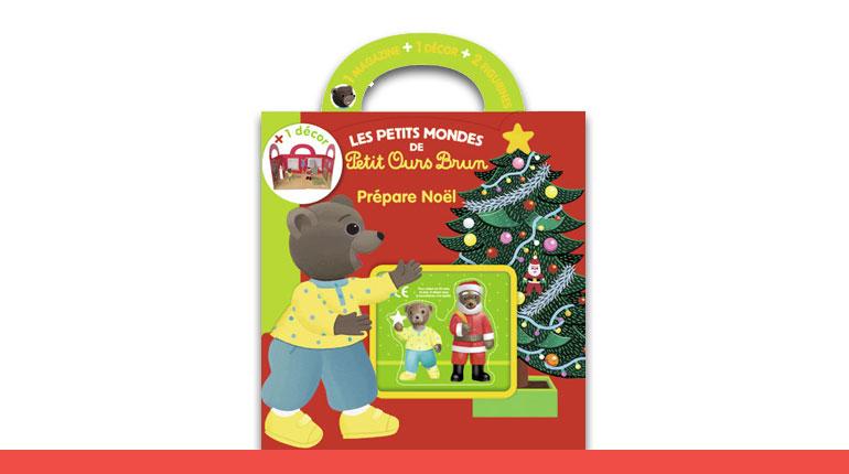 Joyeux Noel Petit Ours Brun.Petits Mondes Petit Ours Brun Prepare Noel Magazine Avec Figurines
