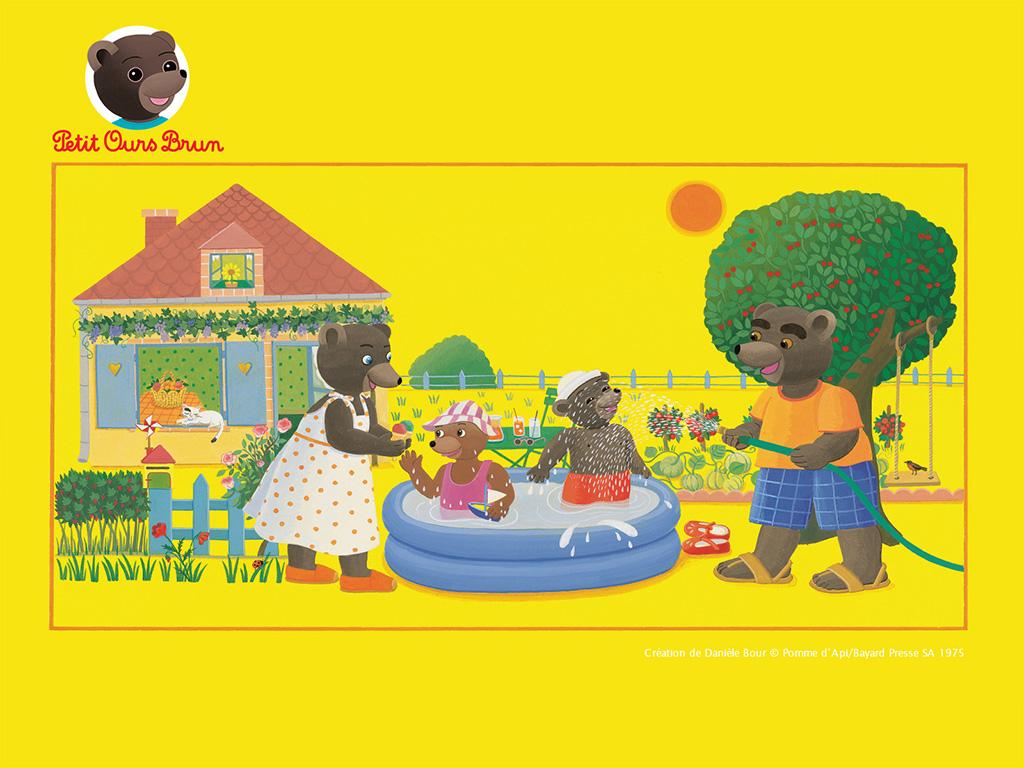 Fonds d 39 cran t petit ours brun t l charger petit ours brun - Petit ours brun piscine ...