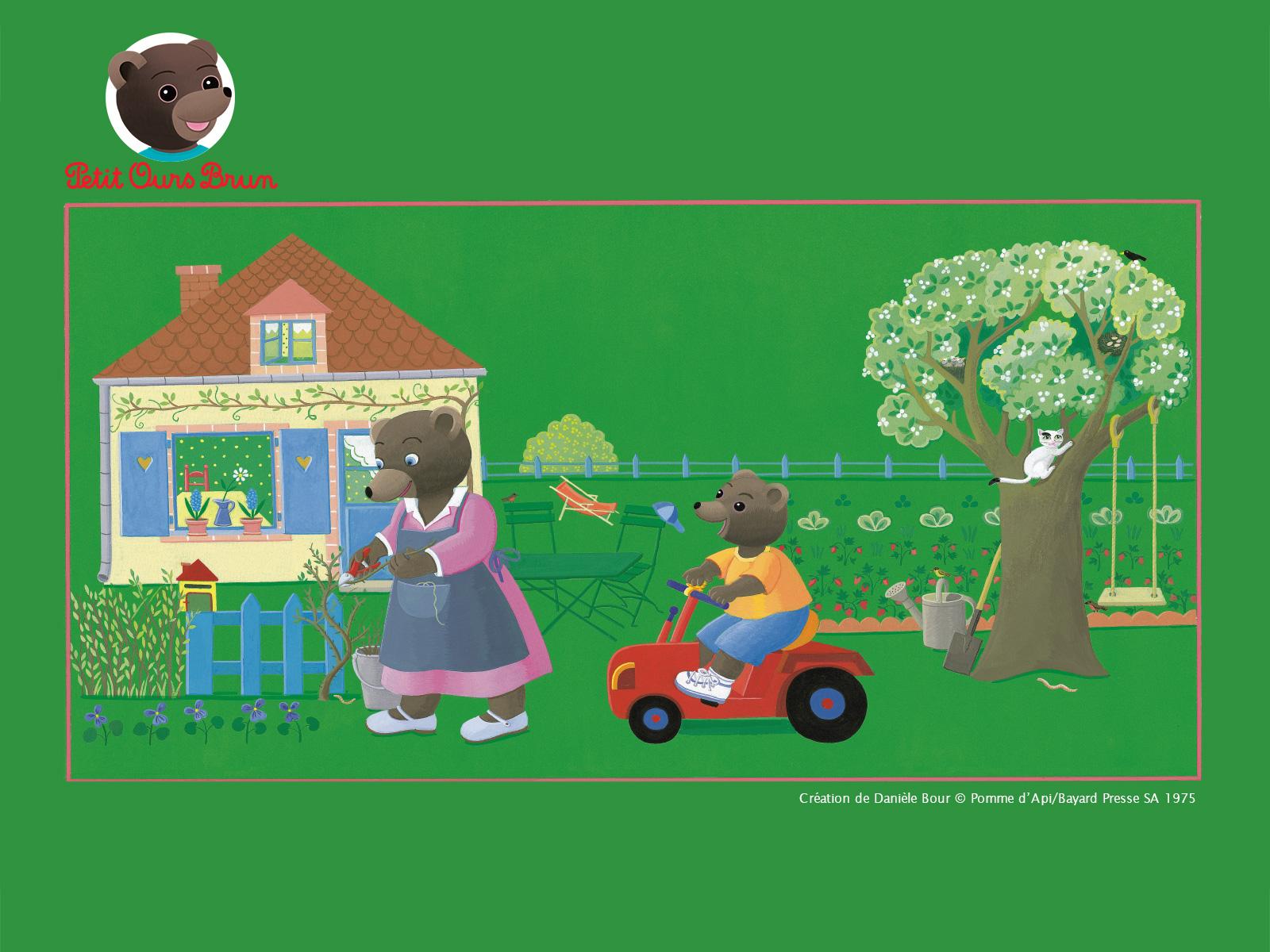 fonds dcran petit ours brun printemps - Petit Ours Brun Telecharger
