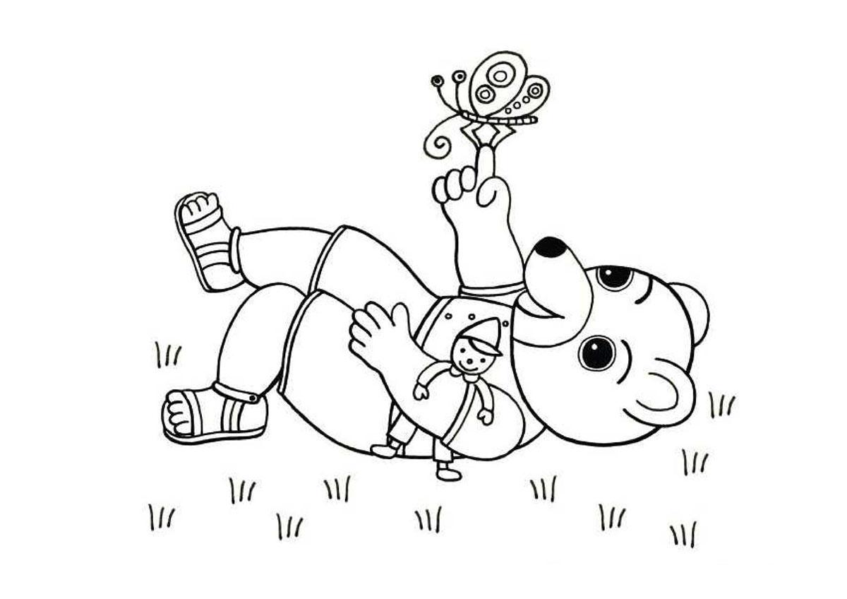Coloriages imprimer t les activit s coloriage petit ours brun - Des images pour coloriage ...