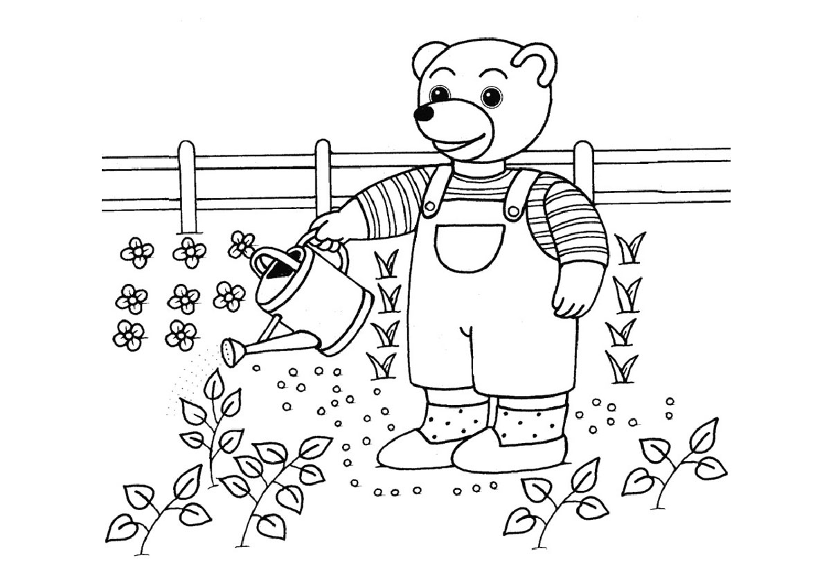 Coloriages imprimer coloriages du printemps activit s petit ours brun - Image du printemps a colorier ...