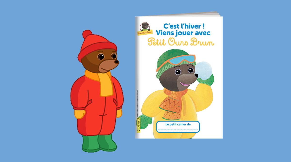 Un livret de jeux Petit Ours Brun à imprimer pour les vacances d'hiver