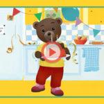 Une video d'anniversaire Petit Ours Brun personnalisée pour votre enfant