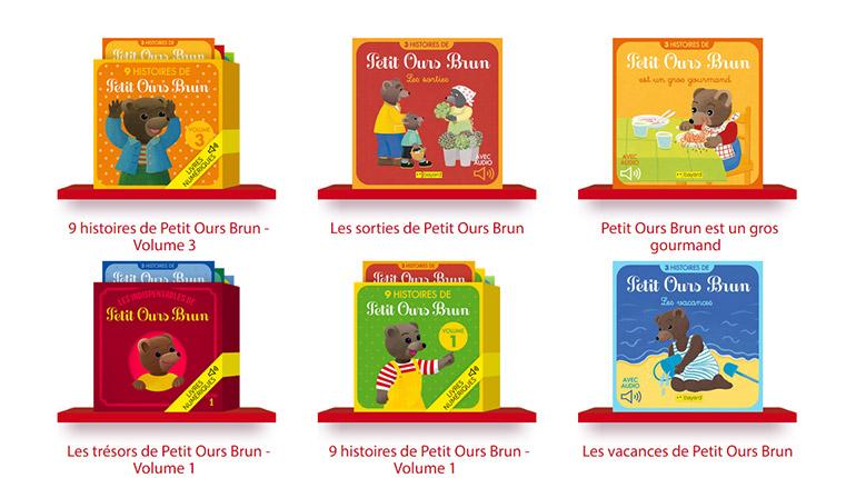 Les livres numériques Petit Ours Brun à lire et écouter sur J'aime lire Store