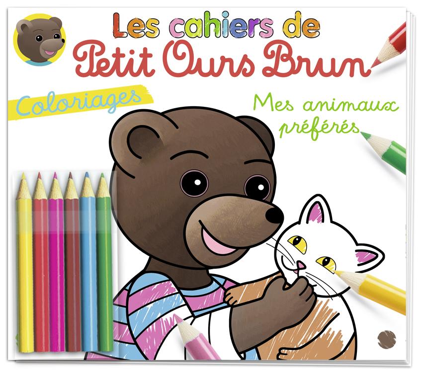 Les cahiers de coloriages de Petit Ours Brun n°45 - Mes animaux préférés
