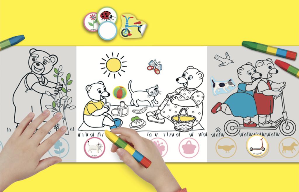 Coloriage Avril Printemps.Coloriages Les Magazines Du Printemps Petit Ours Brun
