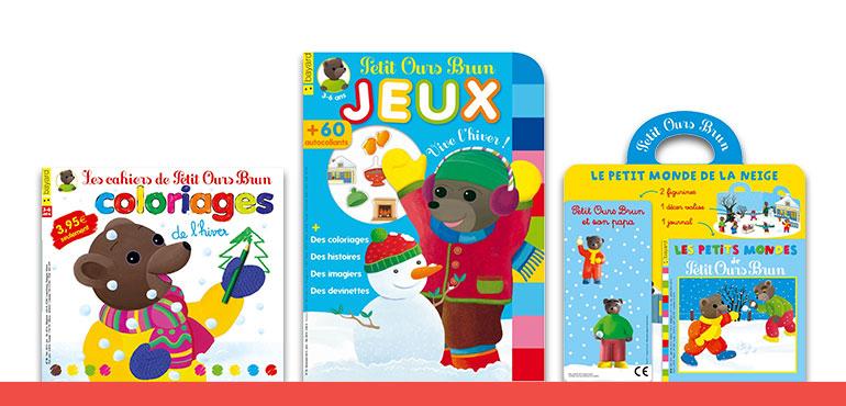 L'hiver arrive dans les kiosques avec Petit Ours Brun !