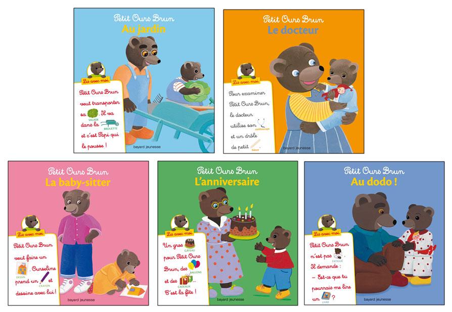 Découvrez la collection de livres Petit Ours Brun « Lis avec Moi »