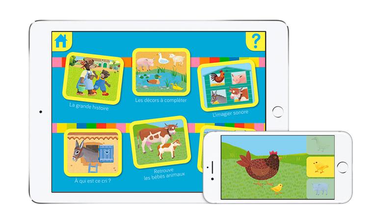 """Un jeu Petit Ours Brun sur iPhone et iPad : """"Les animaux de la ferme avec Petit Ours Brun"""""""