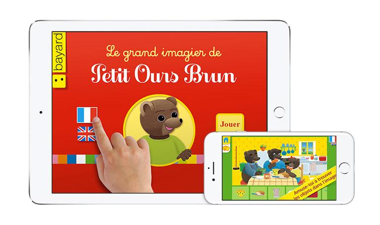 """Découvrez l'application """"Le grand imagier de Petit Ours Brun"""" !"""