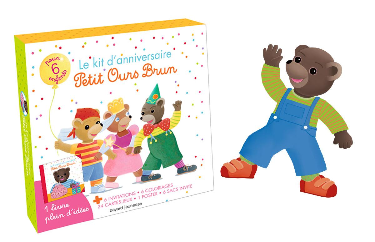 Organisez la fête d'anniversaire de votre enfant avec Petit Ours Brun ! Kit anniversaire