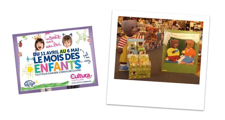 Le mois des enfants avec Petit Ours Brun chez Cultura