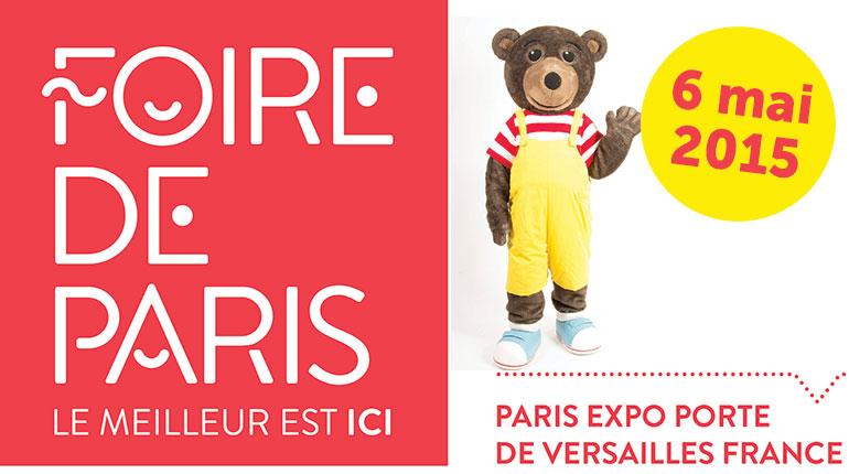 Viens rencontrer Petit Ours Brun à la foire de Paris le 06 mai 2015 !