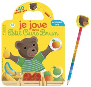 Magazine avec autocollants Je joue avec Petit Ours Brun n°2 : Le marché