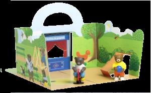 Décor du parc - Les Petits Mondes de Petit Ours Brun : Au parc