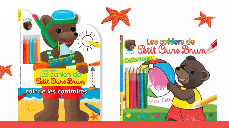 Deux Magazines De Coloriages Petit Ours Brun Pour Passer Un Ete Creatif