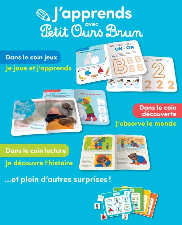 Un nouveau magazine pour les 3-5 ans : J'apprends avec Petit Ours Brun