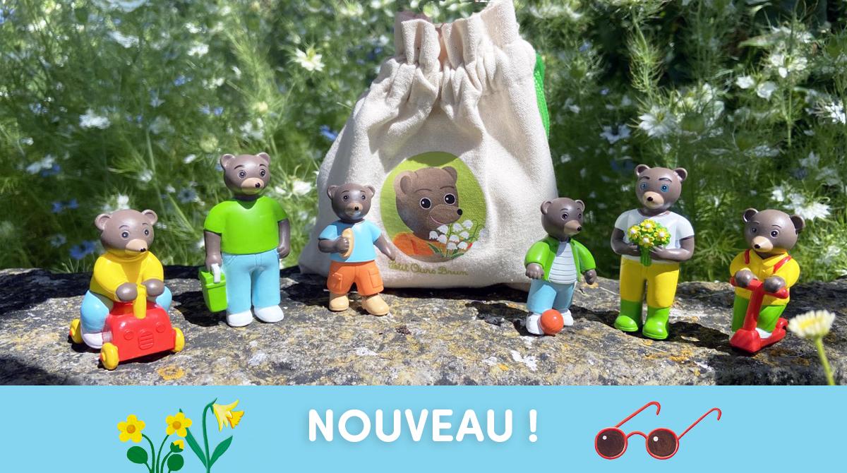 Visuel des figurines Petit Ours Brun - promeande