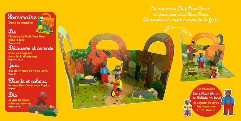 Sommaire : Les petits mondes de Petit Ours Brun : la balade en forêt - n°58